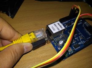 Pemasangan kabel RG45 pada W1500